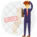 Debtor Defaulter Borrower Icon