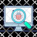 Debugging Virus Scanning Bug Tracking Icon