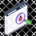 Virus Scan Virus Detection Bug Detection Icon