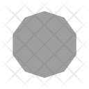 Decagon Shape Icon