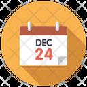 December 24 on calendar Icon