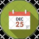 December 25 on calendar Icon
