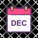 December December Calendar Calendar Icon