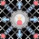 Decentralization Management Operation Icon