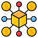 Decentralized Financial Technology Business Database Icon