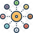 Decentralization Server Network Icon