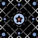 Decentralization Distribution Popular Icon