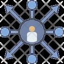 Decentralization Operation Distribution Icon