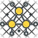 Decentralized Blockchain Network Icon