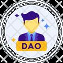 Dao Decentralized Autonomous Organization Laptop Icon