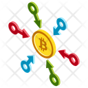Decentralized Exchange Decentralization In Bitcoin Bitcoin Network Icon