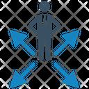 Arrows Businessman Choice Icon