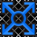 Decision Four Arrow Pointer Icon