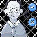 Decision Choice Man Icon