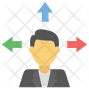 Businessman Decision Making Manager Icon