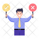 Take Decisions Decision Making Policy Making Icon