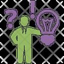 Decision Making Process Finance Management Icon