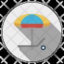 Deck Bench Umbrella Icon