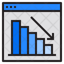 Decline Report Chart Icon