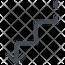 Decline Degrade Descent Icon