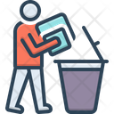 Declutter Dustbin People Icon