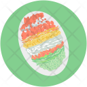 Decorated Egg Easter Icon