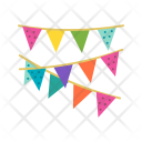 Decoration Flags Bunting Icon