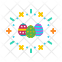 Paschal Eggs Decorated Icon