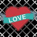 Decoration Greetings Heart Emblem Icon