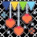 Decoration Confetti Heart Icon