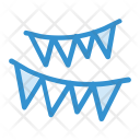 Decorations Bunting Flags Icon