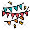 Decorations Flag Celebration Icon