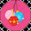 Decorative Baubles Christmas Balls Decorative Balls Icon