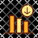 Decrease Analysis Analytics Icon