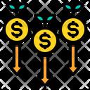Decrease Value Money Icon