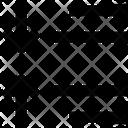 Decrease Spacing Text Icon