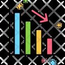 Decrease Loss Bar Graph Icon