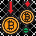 Decrease Bitcoin Icon
