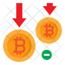Decrease Bitcoin Icon