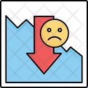 Decrease Down Loss Icon