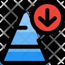 Decrease Chart Pyramid Dwon Pyramid Graph Icon
