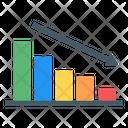 Recession Bar Graph Data Decrease Icon