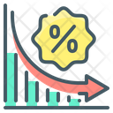 Decrease Chart Loss Graph Rate Cut Icon