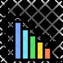 Down Decrease Bar Chart Icon