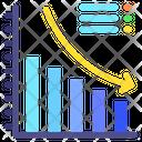 Decrease Chart Loss Statistics Decrease Icon