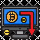 Decrease Cryptocurrency Icon