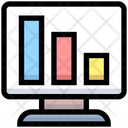 Decrease Graph Online Analysis Monitor Icon