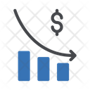 Decrease Graph Decrease Economy Decrease Icon