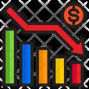 Decrease Graph Money Financial Icon