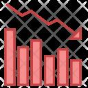 Decrease Graph Loss Icon